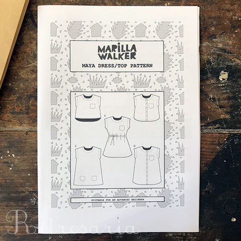 Marilla Walker Maya Dress/Top sewing pattern