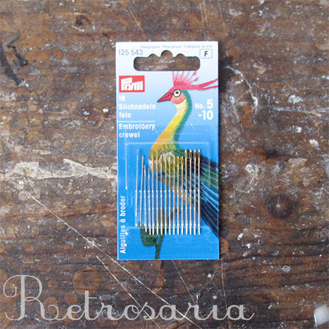 Agulhas para bordar Prym crewel needles (NO. 5-10)