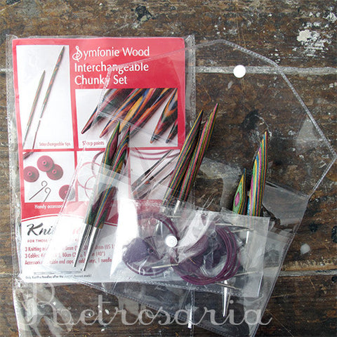 Kit de agulhas circulares Knitpro Symfonie Wood Interchangeable Chunky Set