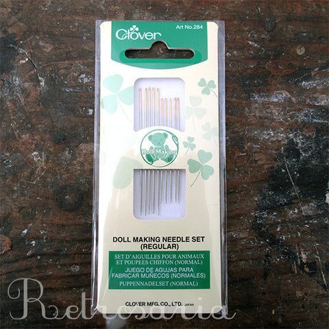 Agulhas para bonecos Clover Doll Making Needle set