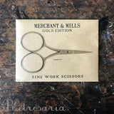 Tesoura de costura Merchant & Mills Fine Work Gold Scissors