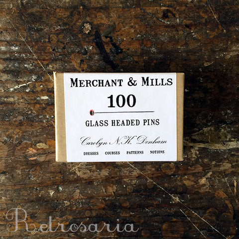 Alfinetes com cabeça de vidro Merchant & Mills Glass headed pins