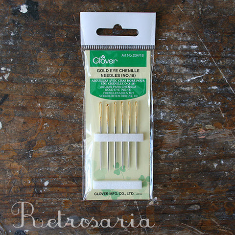 Agulhas para bordar CLOVER gold eye chenille needles (NO. 18)