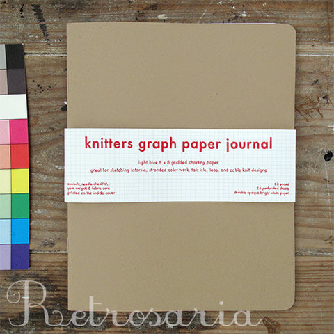 Caderno de tricot | Knitters graph paper journal