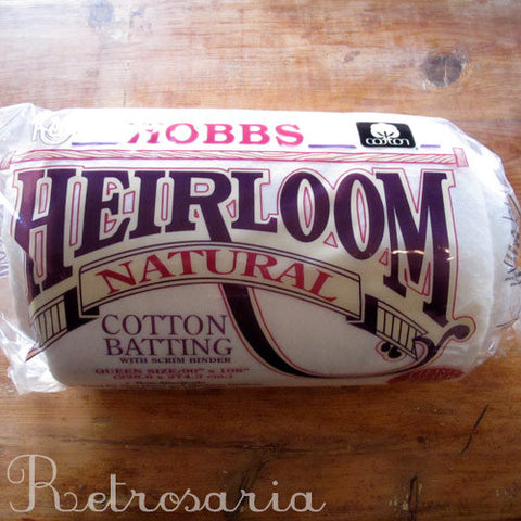 Hobbs Heirloom Natural cotton batting