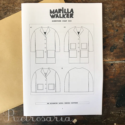 Marilla Walker Honetone Coat sewing pattern