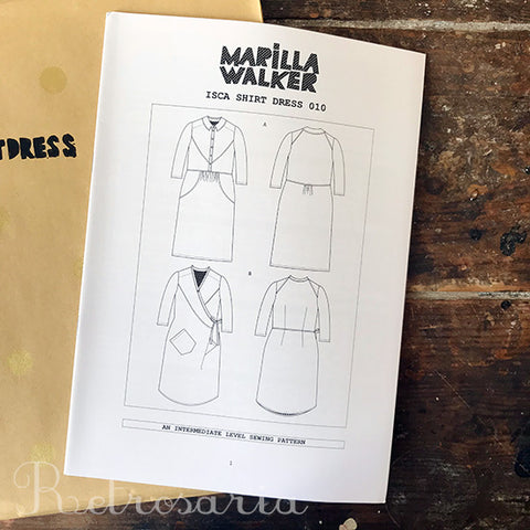 Marilla Walker Isca Shirtdress sewing pattern