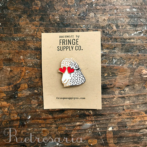 Fringe Supply Co. Knitmoji enamel pin
