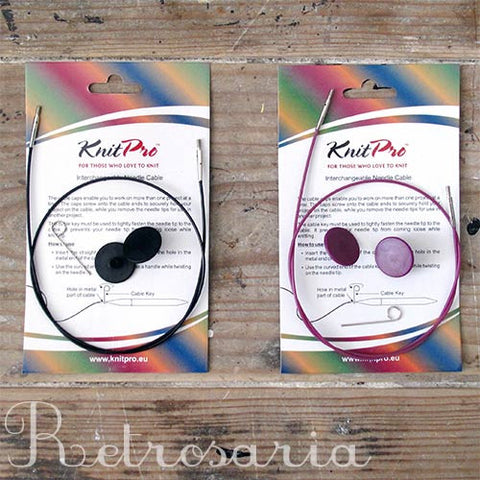 Cabos para agulhas intercambiáveis Knitpro interchangeable needle cables