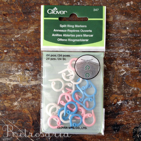 Marcas para tricot CLOVER Split ring markers