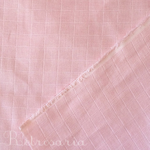 Musselina rosa bebé | Diaper muslin fabric light pink