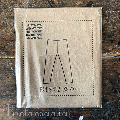 100 Acts of Sewing Pants No. 2 sewing pattern