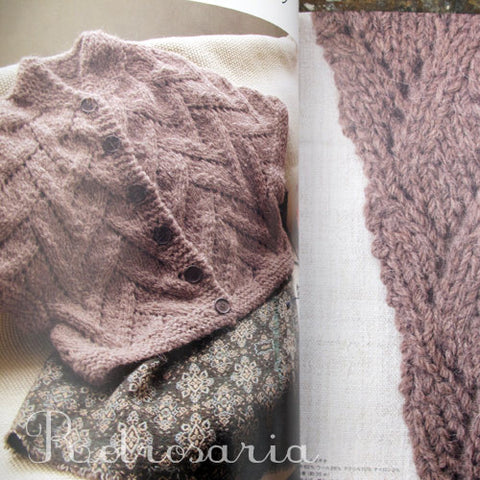 Knitting Sweater begin from neck | ネックから編むセーター