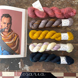 Squiggle & Stripe shawl kit