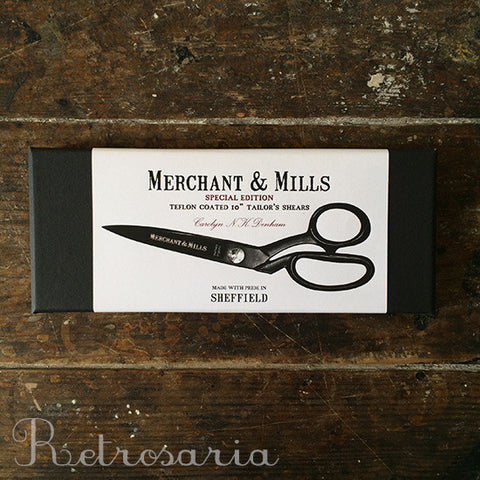 "Tesoura de alfaiate merchant & Mills Teflon Coated 10"" Tailor's Shears"