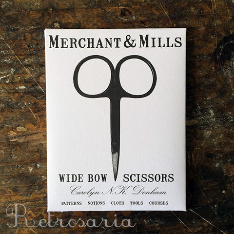 Tesoura de costura Merchant & Mills Wide bow scissors