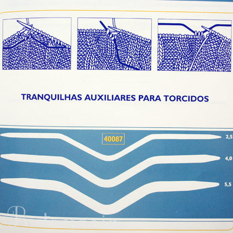 Tranquilhas para torcidos | Cable needle set