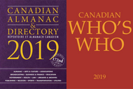 Package Deal: Canadian Almanac & Directory and Canadian Who's Who 2019