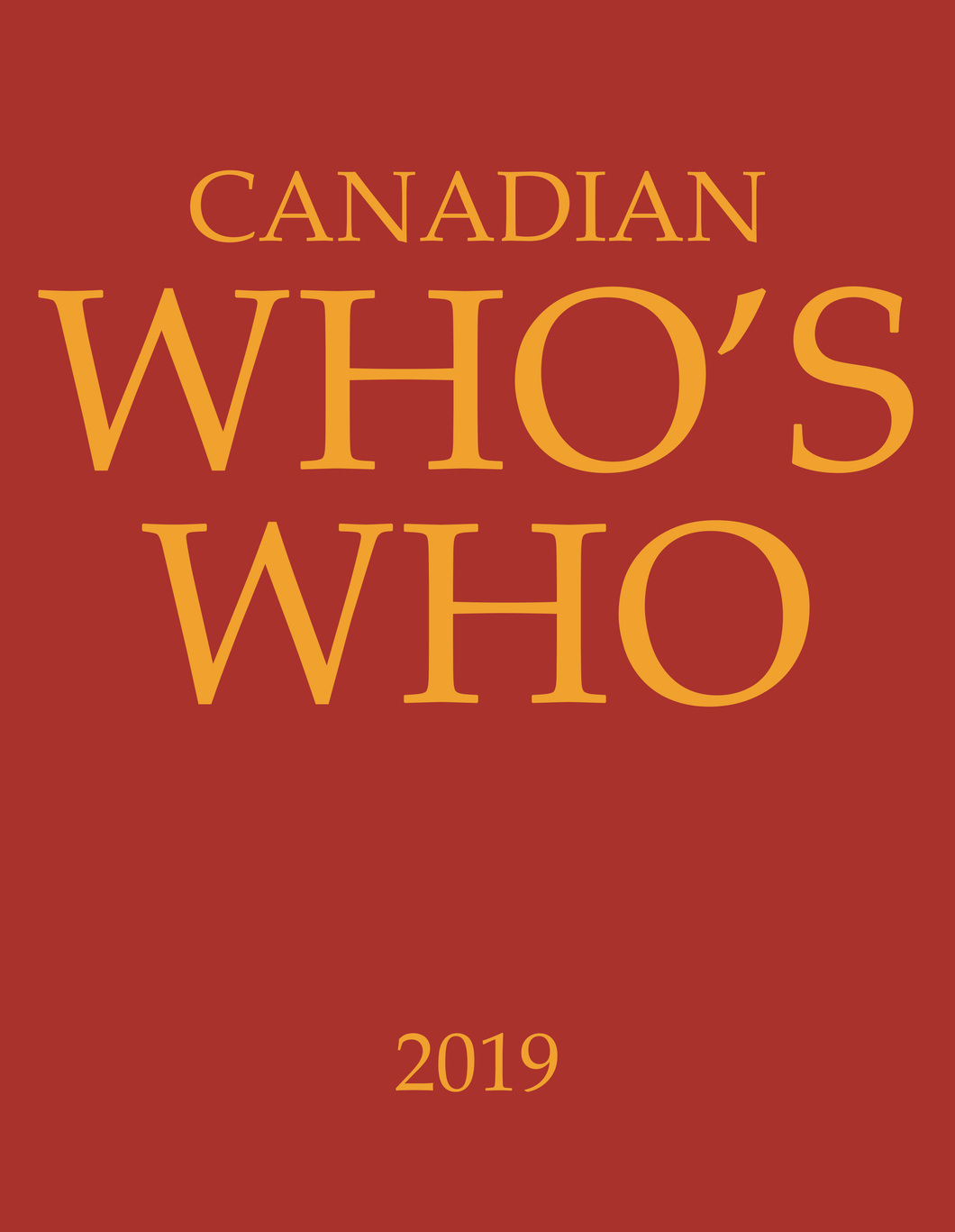 CANADIAN WHO'S WHO 2019