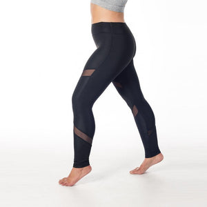 Black Mesh Workout Tights
