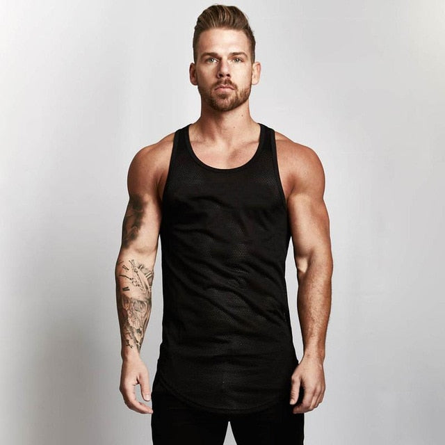 Mens Sleeveless workout tank