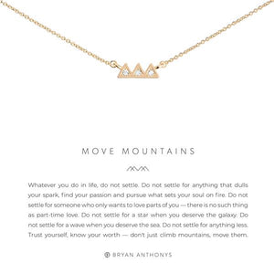 Bryan Anthonys Gold Move Mountains Necklace | Bella Lucca Boutique
