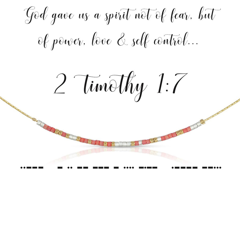 MORSE CODE NECKLACE | 2 TIMOTHY 1:7