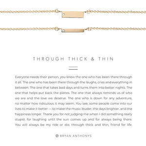 THROUGH THICK & THIN NECKLACE SET
