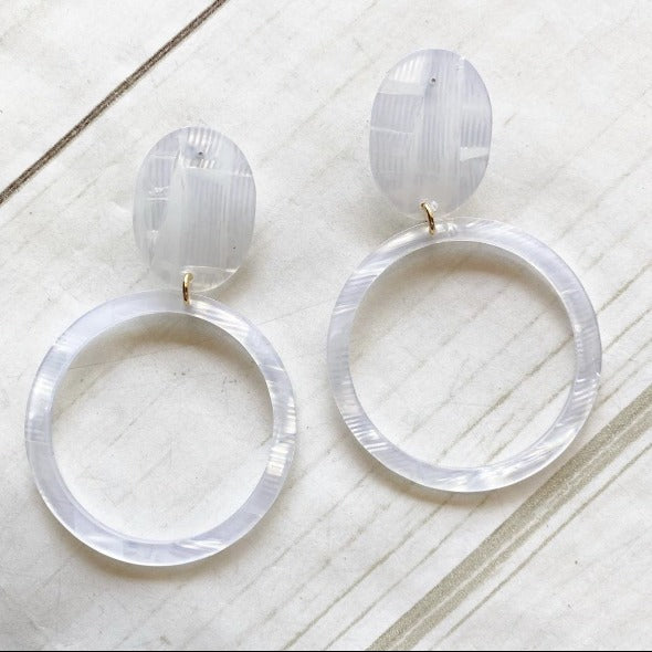 Lightweight Acrylic Post Hoops-Bella Lucca Boutique