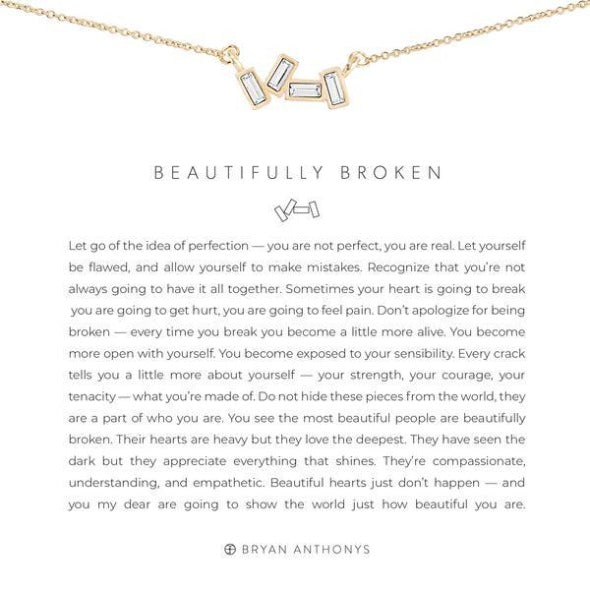 Bryan Anthony beautifully broken necklace gold