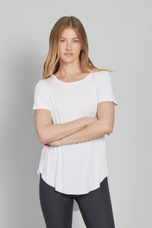 The Julie Crew Neck-White