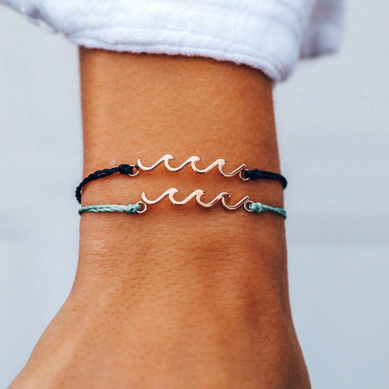 DELICATE WAVE CHARM BRACELET | ROSE GOLD