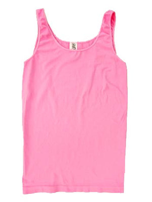 Yahada Wide Strap Seamless Tank Top-Candy Pink