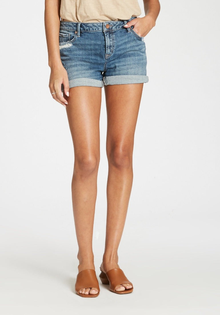 AVA HIGH RISE DENIM SHORTS