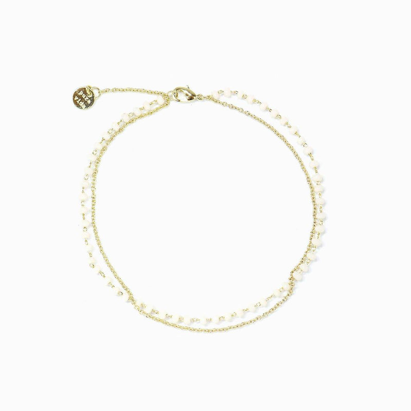 PURA VIDA BEADED CHAIN ANKLET