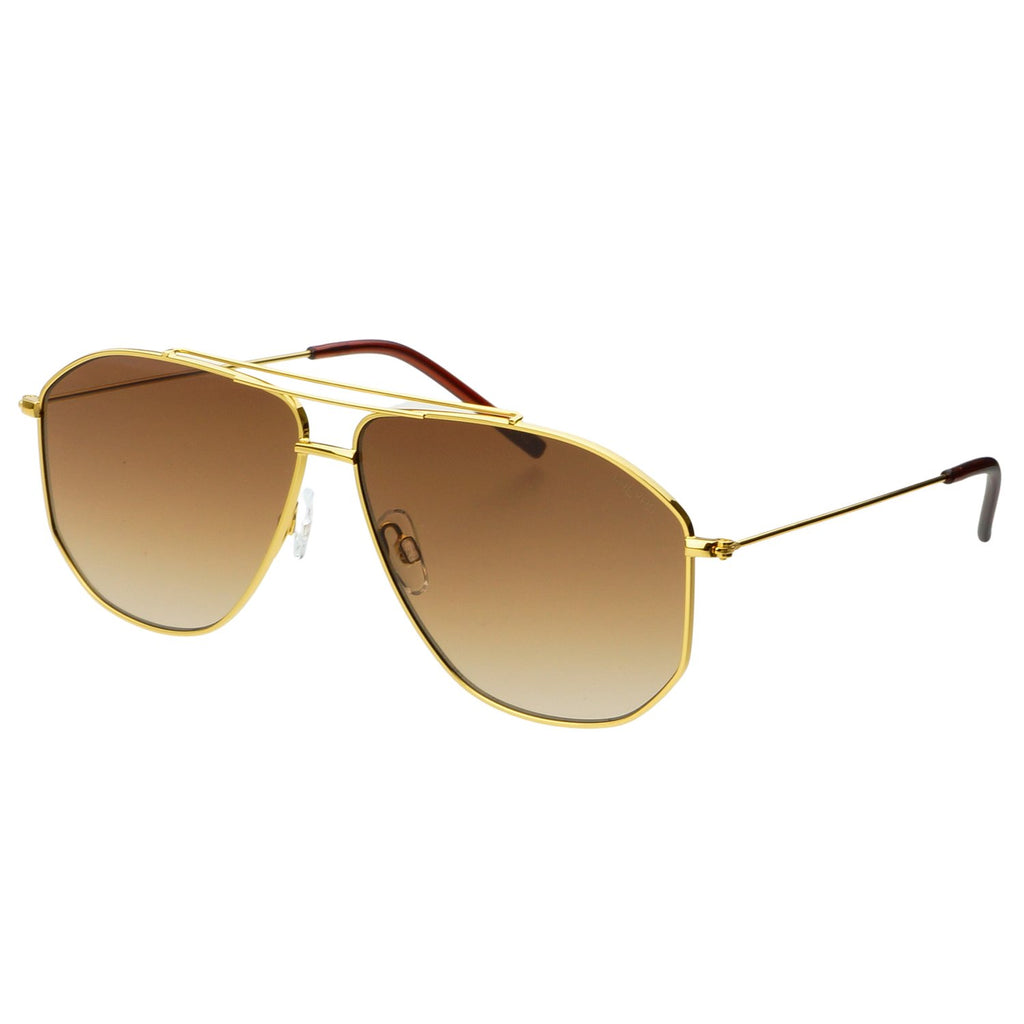 Freyrs Barry Aviators | Brown Sunglasses