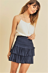 Reset by Jane Navy Amore Skirt | Bella Lucca Boutique