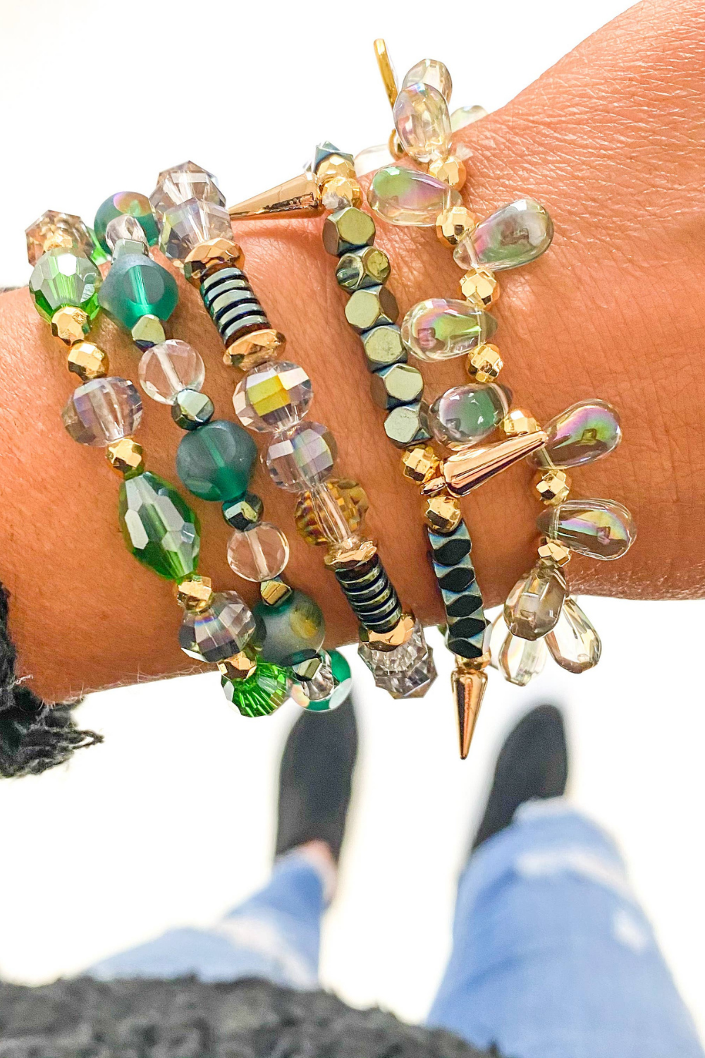 Green Bracelet Set | Bella Lucca Boutique