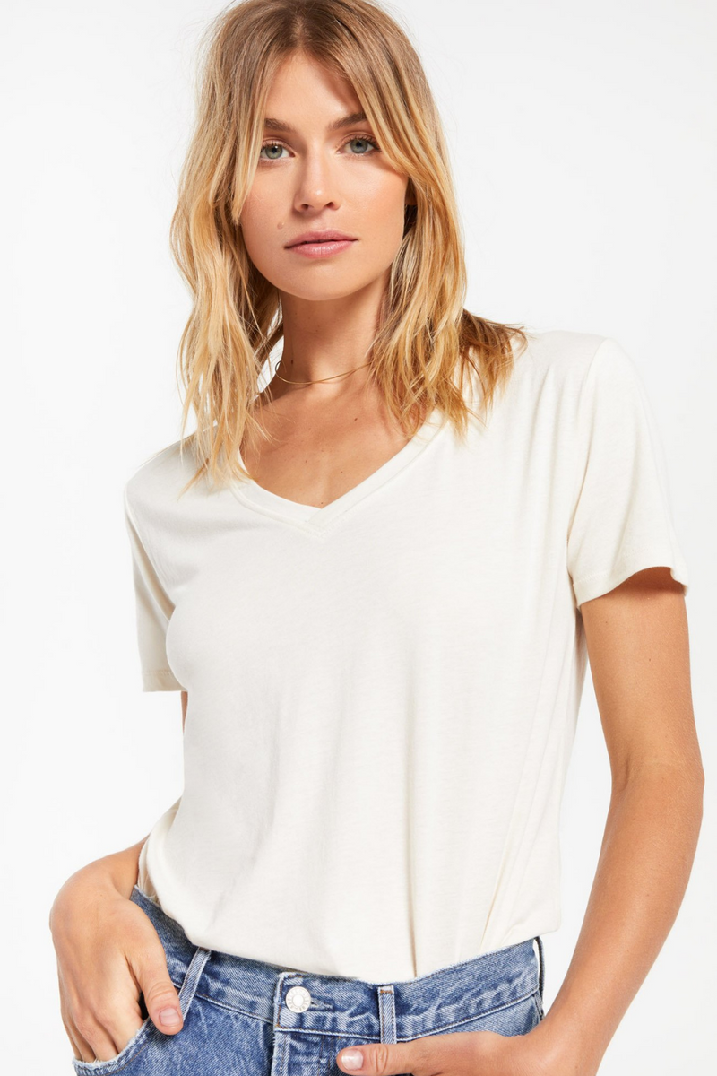 Z Supply Kasey Modal V-Neck Tee | Bella Lucca Boutique