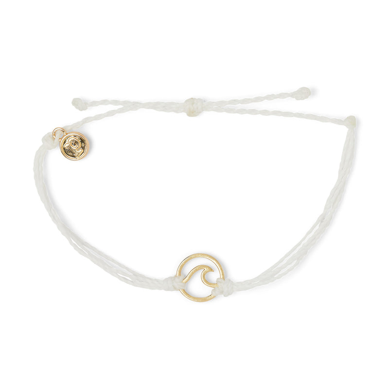 Pura Vida Gold Wave Charm Bracelet | Pacific Blue