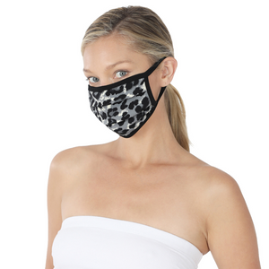 Grey Cheetah Face Mask | Bella Lucca Boutique