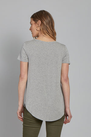 The Julie Crew Neck-Heather Grey