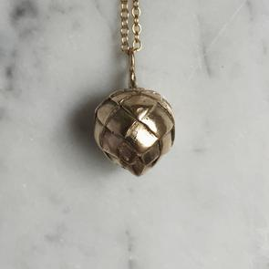 Mimosa Handcrafted Artichoke Pendant Necklace-Bella Lucca Boutique