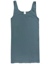 Yahada Wide Strap Seamless Tank Top-Medium Grey