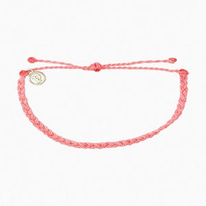 Pura Vida Mini Braided Bracelet Petal Pink colorful beach vibes wrist candy pink beach solid-petal-pink