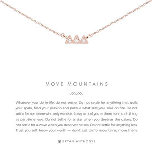 Bryan Anthonys Rose Gold Move Mountains Necklace | Bella Lucca Boutique