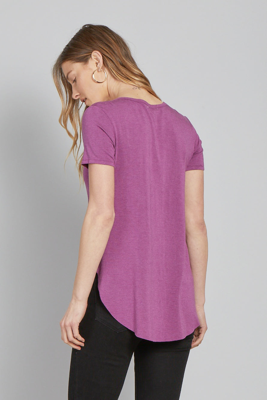 The Julie Crew Neck-Orchid Blush