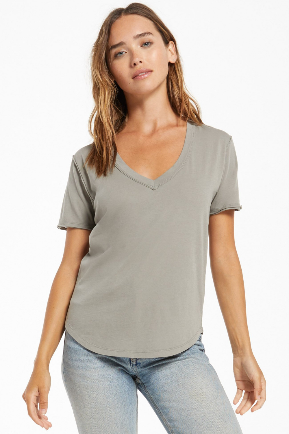 Z Supply Organic Cotton Tee | Dusty Sage