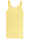 Yahada Wide Strap Seamless Tank Top-Pale Yellow