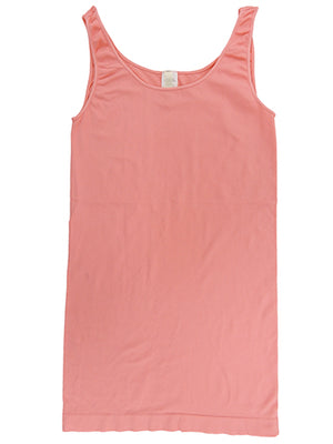 Yahada Wide Strap Seamless Tank Top-Light Coral